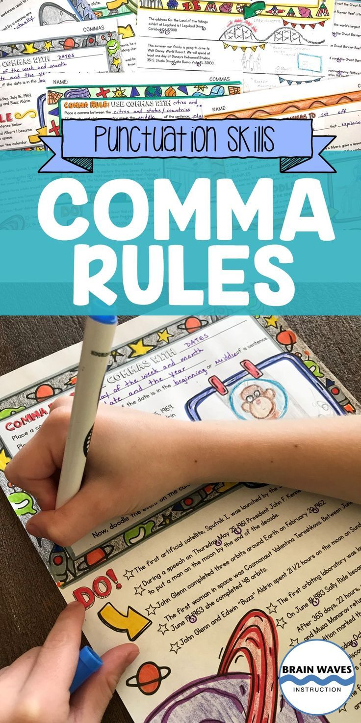 This Doodle And Do Resource Is All About Commas Students Will Learn 10 Different Comma Rules They Ll C Grammar Worksheets Doodle Notes How To Memorize Things [ 1472 x 736 Pixel ]
