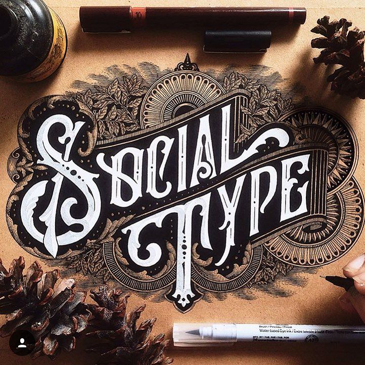 """310 Likes, 6 Comments - Ligature Collective (@ligaturecollective) on Instagram: """"The level of detail within this epic typographic compilation is seriously mind blowing!…"""""""