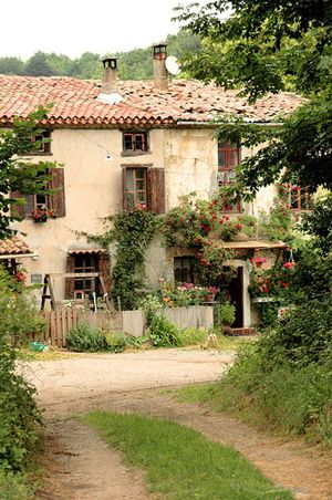 French farmhouse....ahhh a girl can dream...simple life...