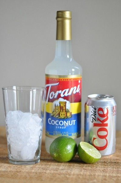 Dirty Diet Coke - Coconut Torani Syrup and Lime - TodaysMama.com