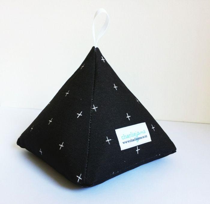 türstopper sack edelstahl schwarz sterne