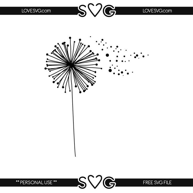 Cricut design, vinyl - Dandelion | files  svg Cricut Free