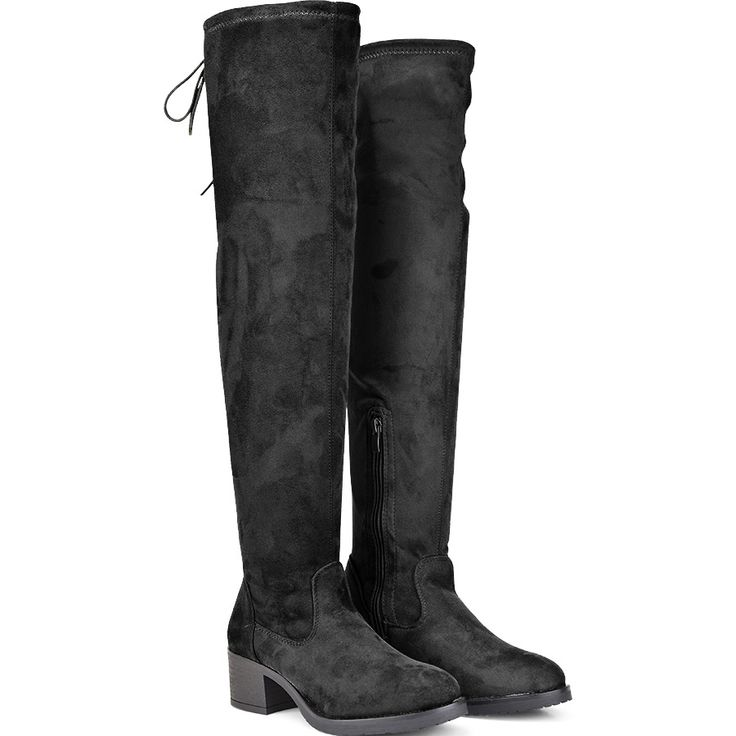 Black suede boot F1212