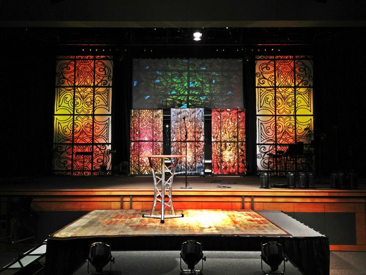 105 best stage decorations images on pinterest paper for Backdrop decoration for church