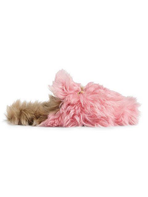 5e710093c99 Gucci Pink Princetown Merino Wool Mules in 2019