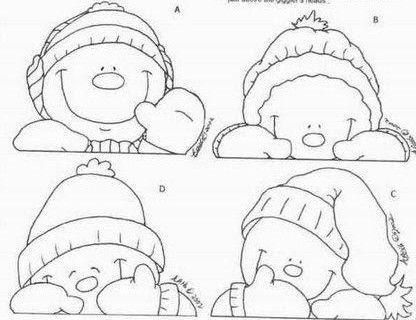 Cara muñeco de nieve