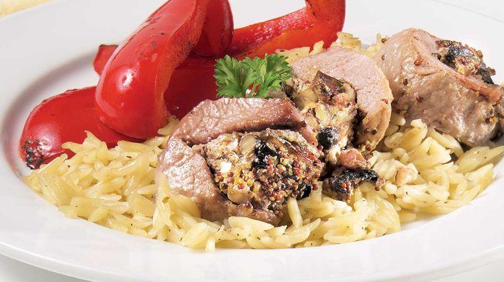 Filet de porc Nagano farci aux portobellos et aux noix de Grenoble
