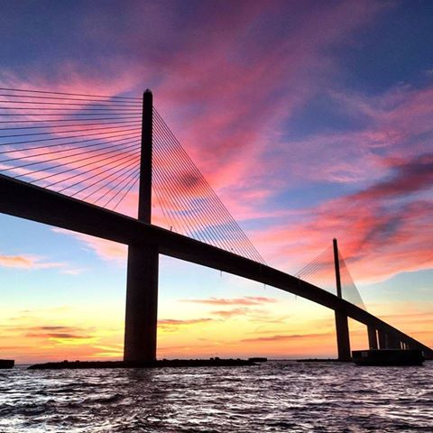 Sunshine Skyway Bridge over Tampa Bay