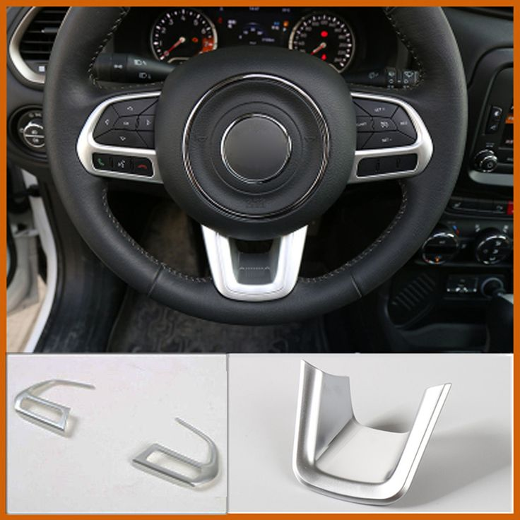 3Pcs/Set For JEEP Compass Car Steering Wheel Trim Frame Cover Sticker Sequins ABS Interior Decoration Car Acolortour Accessories #Affiliate