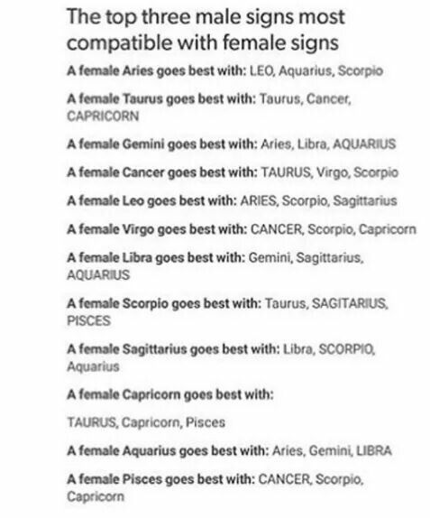 What sign is most compatible with capricorn male