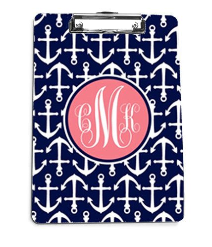 Monogrammed Clip Board Monogrammed by LoveyDoveyCreations on Etsy, $28.00