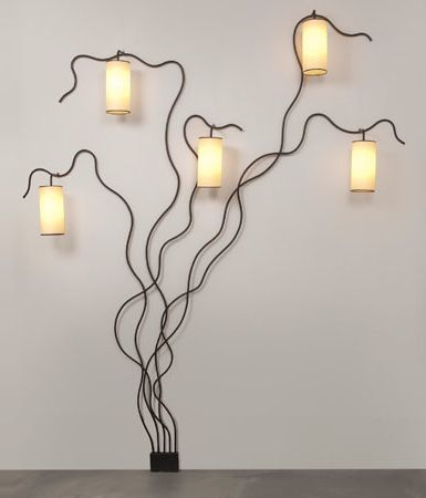 Jean Royère; Enameled Metal 'Liane' Wall Light, 1961.