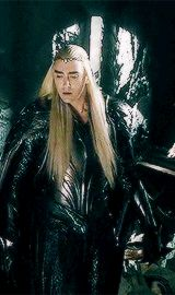 You can just see the fear for his son on his face. Thranduil is terrified that his only son, his only child he had with his late wife, is dead. This, people, is not the face of a bad father or a party king - this is the face of an Elf with nothing BUT love in his heart!