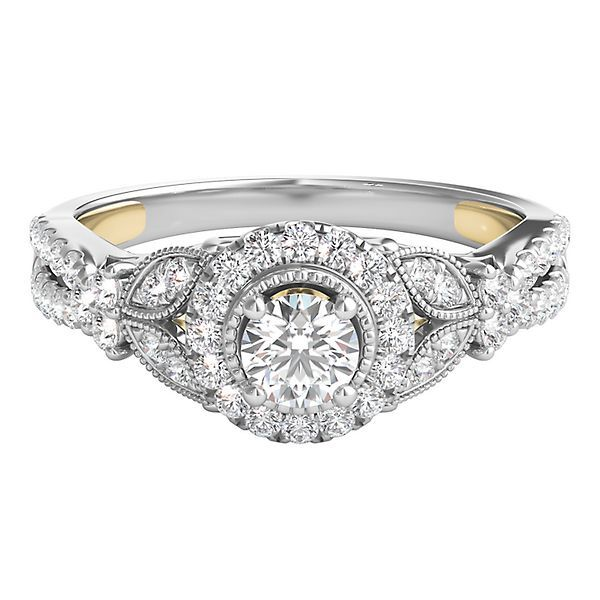 TRULY™ Zac Posen 5/8 ct. tw. Diamond Halo Engagement Ring in 14K Gold
