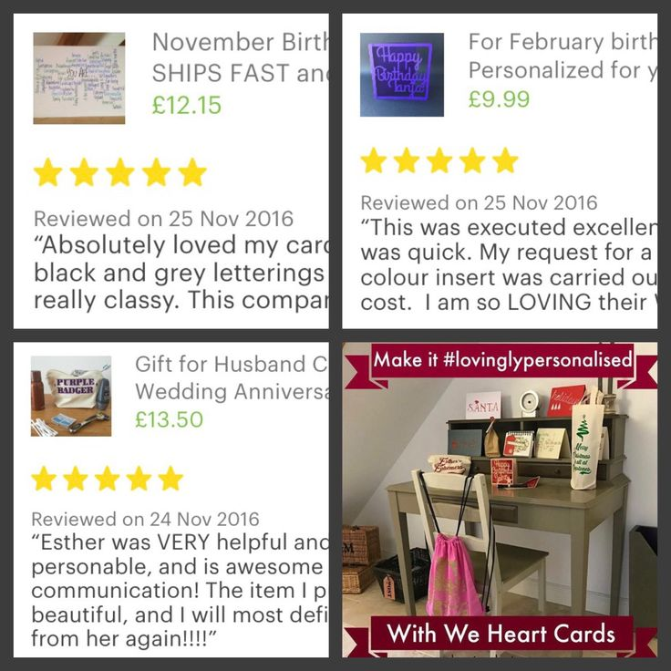 Great reviews! Thank you to my lovely customers