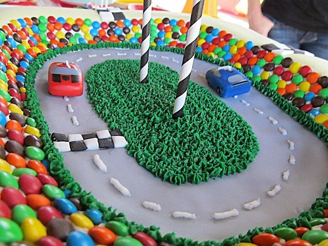 Race car cake at a Cars Party #cars #partycake, Go To www.likegossip.com to get more Gossip News!