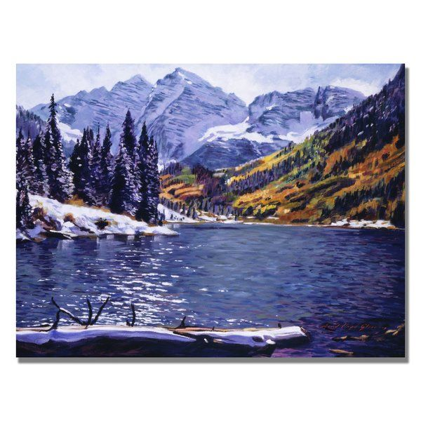 You'll love the 'Rocky Mountain Solitude' by David Lloyd Glover Painting Print on Canvas at Wayfair.ca - Great Deals on all Décor & Pillows products with Free Shipping on most stuff, even the big stuff.