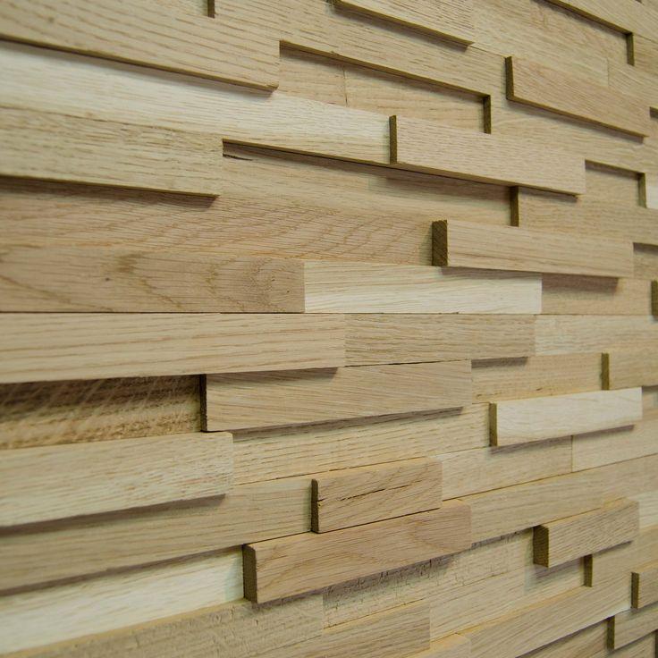Wallure Striped - Oak - Narrow - Sleek - Natural Wooden Wall Panel