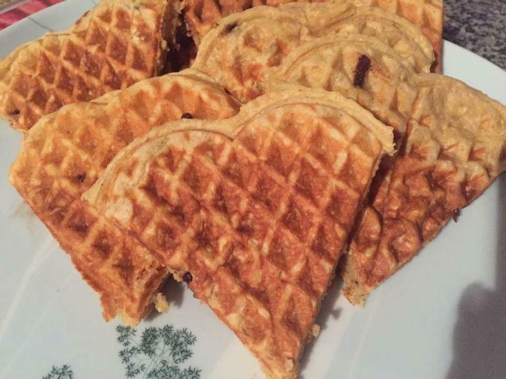 Waffles manteiga de amendoim