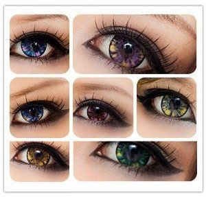 amazoncom soft lens green star gazed 5 tone contact lenses green - Color Contacts Amazon
