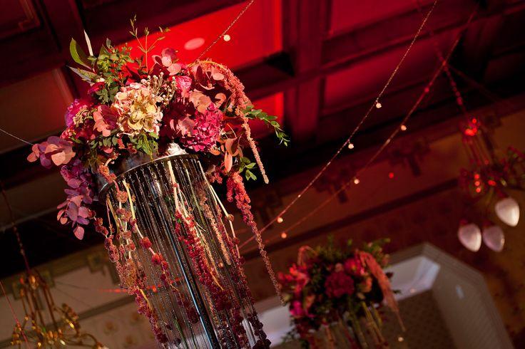 Elegant marsala wedding reception in Ciekocinko Palace Hotel Resort & Wellness by artsize.pl