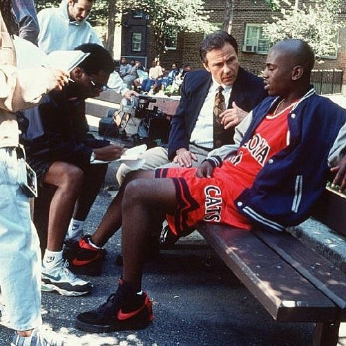 """Instagram media by nicekicks - Nearly every Spike Lee directed film features iconic Nikes & urban style worn during that era • """"Clockers"""" released in 1995 as Mekhi Phifer is pictured wearing the Nike Air Force 1 with a Damon Stoudamire University of Arizona jersey"""