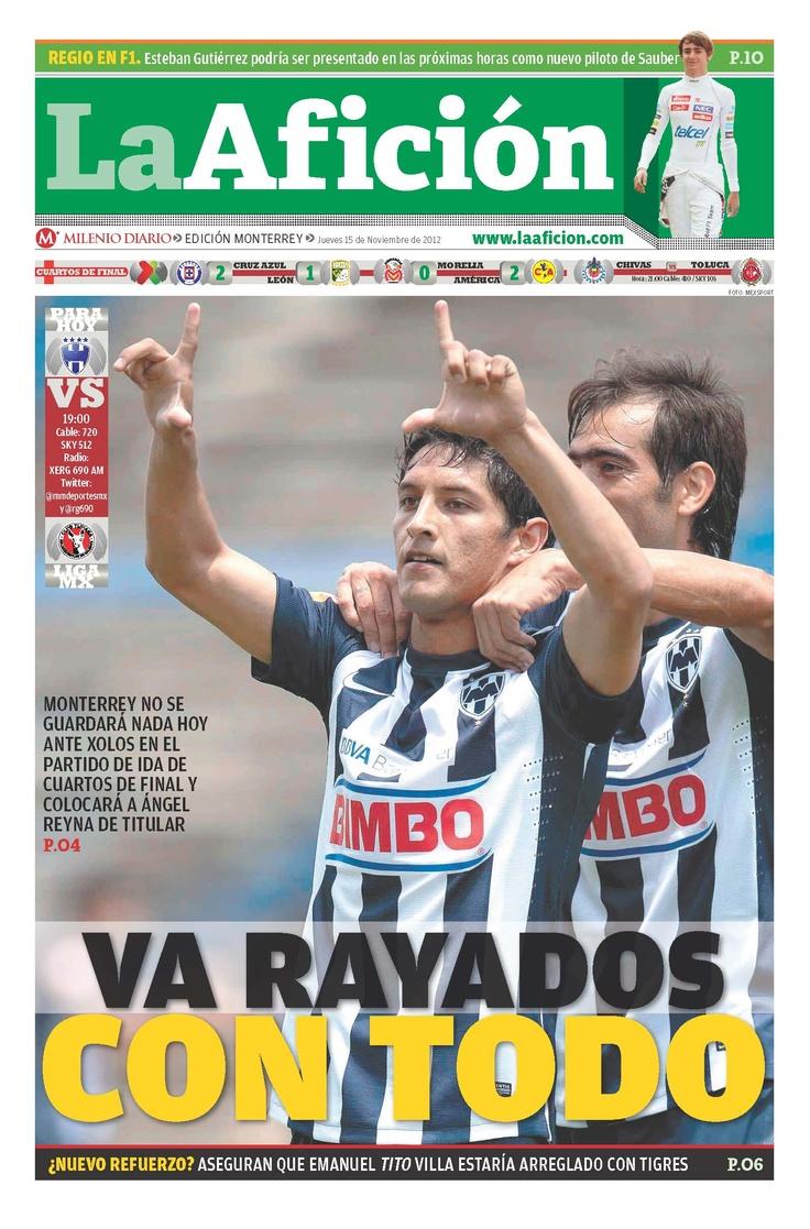 """Rayados va con todo ante Xolos esta noche en el partido de """"ida"""" de los cuartos de final"""