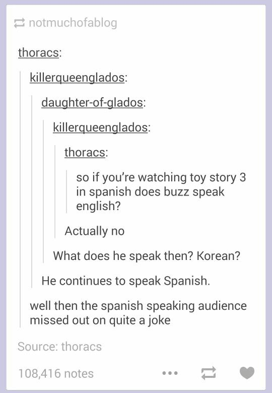 Apparently he switches from latinoamerican spanish to spain spanish so it's still pretty funny