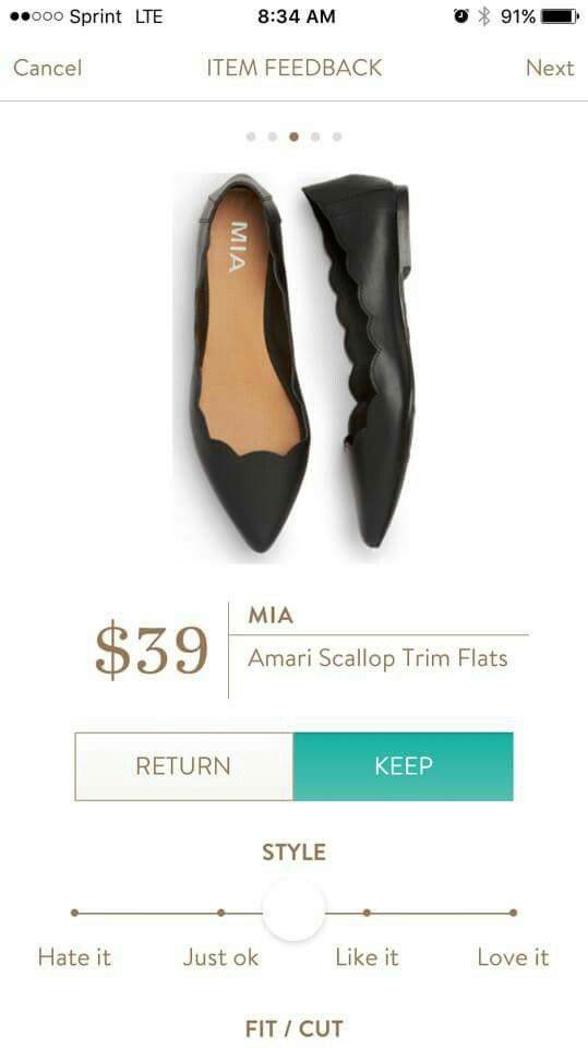 Not sure about the scallops but would love some trendy flats
