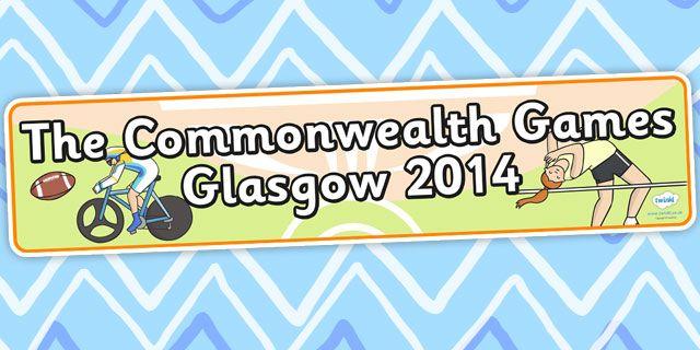The Commonwealth Games- The Commonwealth Games Glasgow 2014 Display Banner