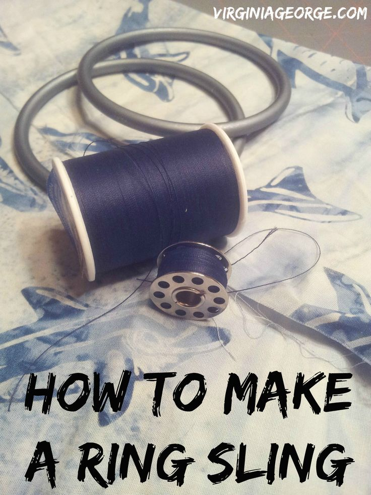 Step by step tutorial with pictures. How to make a ring sling with a gathered shoulder. | Virginia George