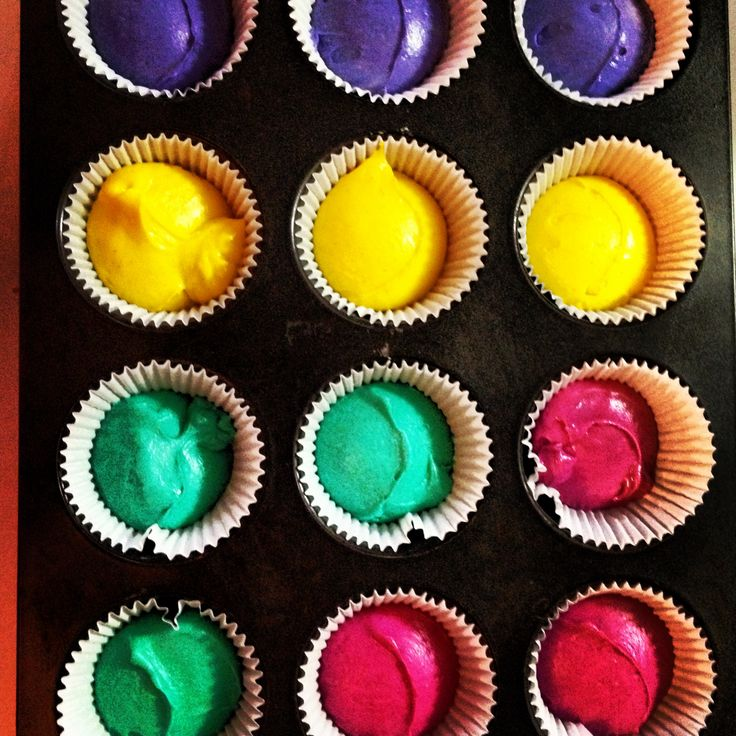 Multi-colour Cupcakes