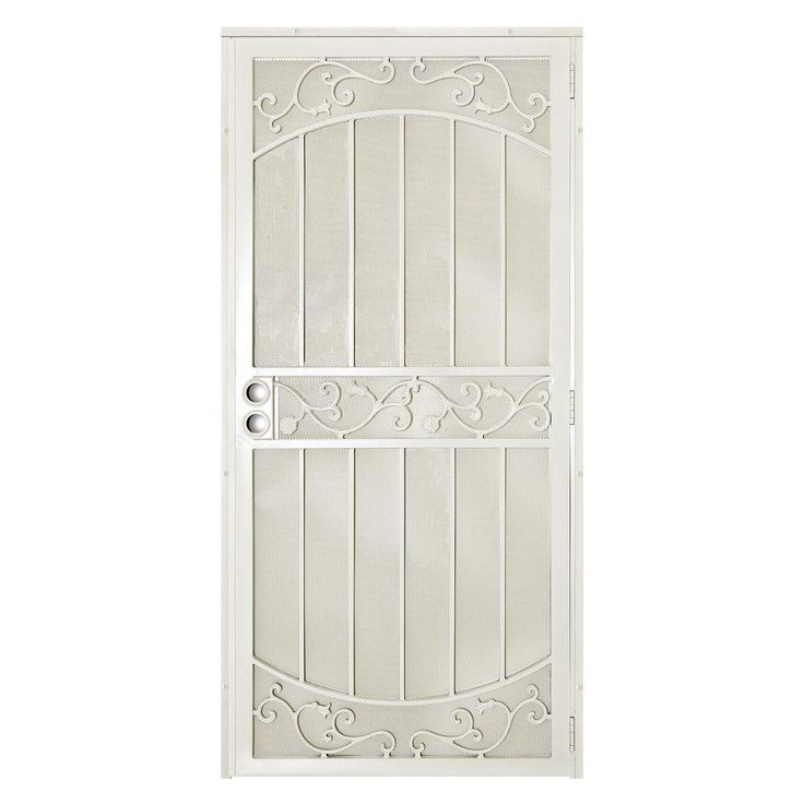 Unique Home Designs 36 in. x 80 in La Entrada Navajo White Surface Mount Outswing Steel Security Door with Perforated Metal Screen  sc 1 st  Pinterest & Best 25+ Metal screen doors ideas on Pinterest | Laser cut screens ... pezcame.com