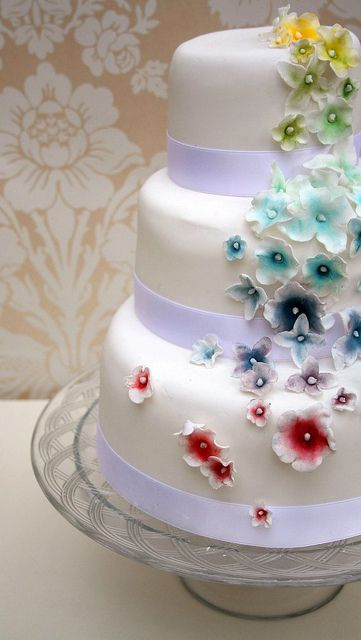 rainbow flower wedding cake 17 best images about wedding cakes on 18958
