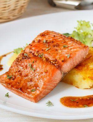 Запеченный лосось в медово-горчичном соусе - вкусные проверенные рецепты, подбор рецептов по продуктам, консультации шеф-повара, пошаговые фото, списки покупок на VkusnyBlog.Ru