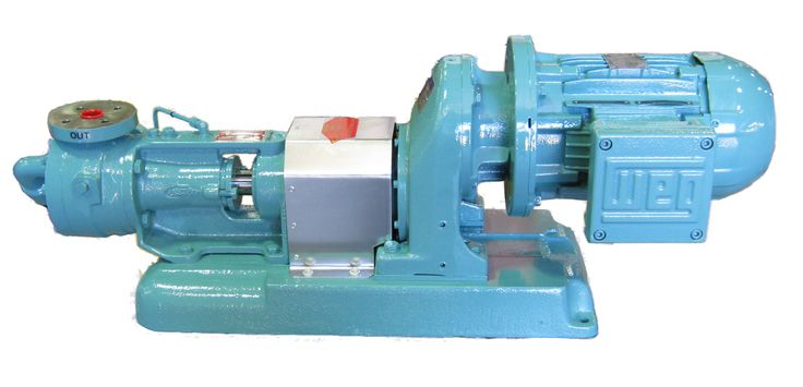 Ebsray Pump with Genat and Wood™ Gearmotor unit attached.