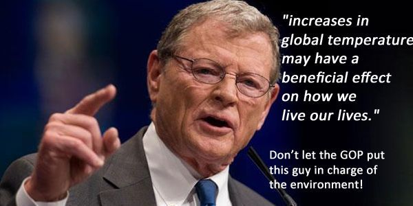 Don't Put a Climate Change Denier in Charge of US Environmental Policy! | When Senate majority is handed to the GOP, a Republican will become the chair of the Environment and Public Works Committee. We need to take a stand now to demand that Senator Jim Inhofe isn't given this appointment. Click for details and please SIGN and share petition. Thanks. 11/17