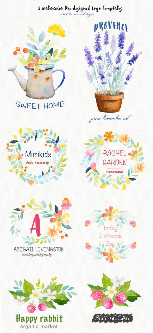 Watercolor Botanical DIY pack by Digital art shop on Creative Market
