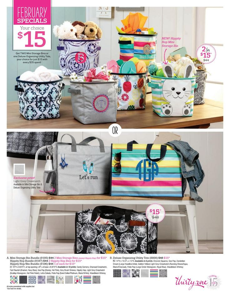 Thirty One 2018 February Customer and Hostess Special www.mythirtyone.com/Bisconti www.facebook.com/groups/VIP31Bisconti