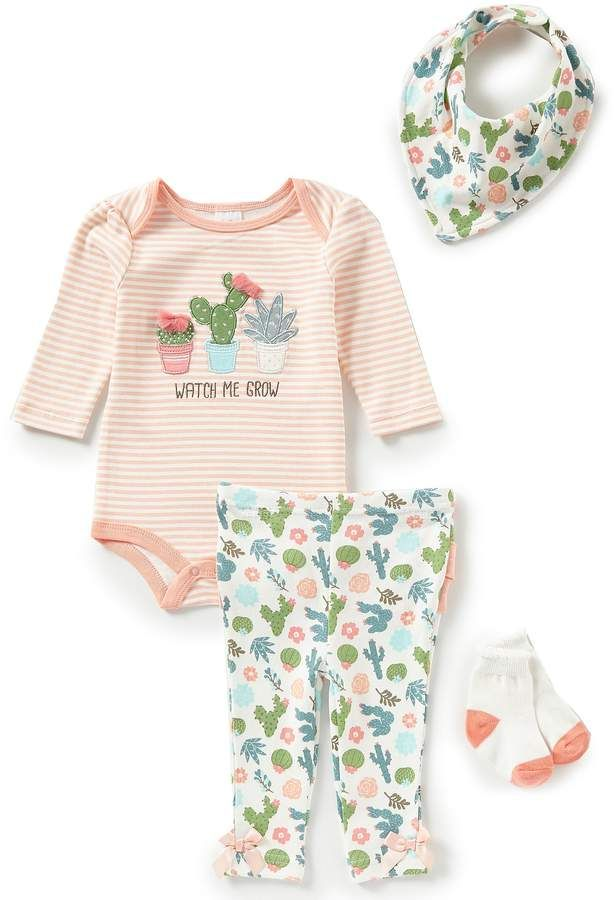 625b735fb Starting Out Baby Girls Newborn-9 Months Cactus Applique 4-Piece ...