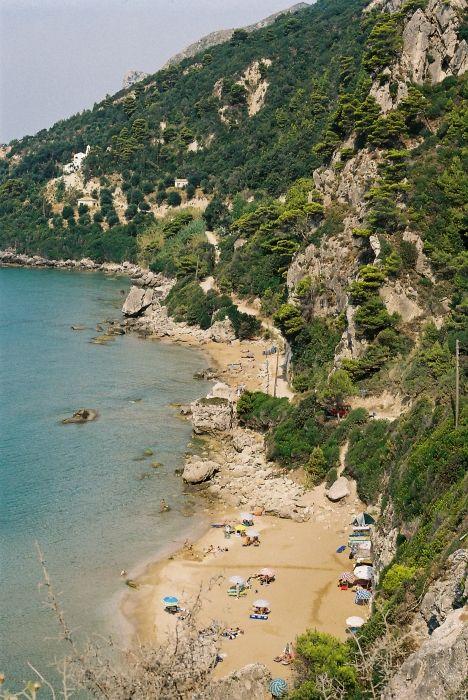 corfu- myrtiotissa: where we camped the first night!