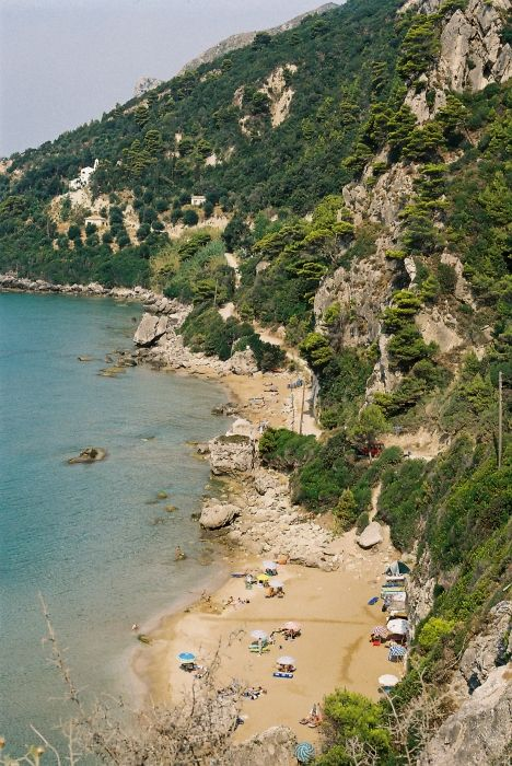 corfu- myrtiotissa: where we camped the first night!