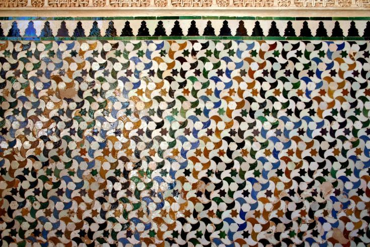 Tessellations from the Alhambra in Granada, Spain.