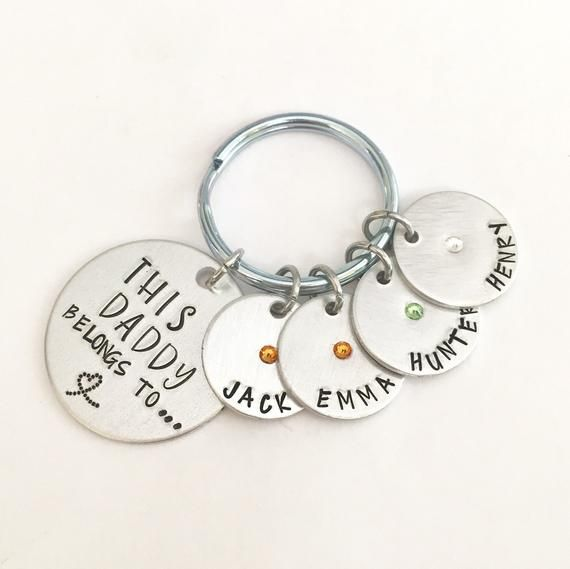 Personalised Christmas Gifts For Her Him Daddy Grandad Grampy Papa Keyring Gifts