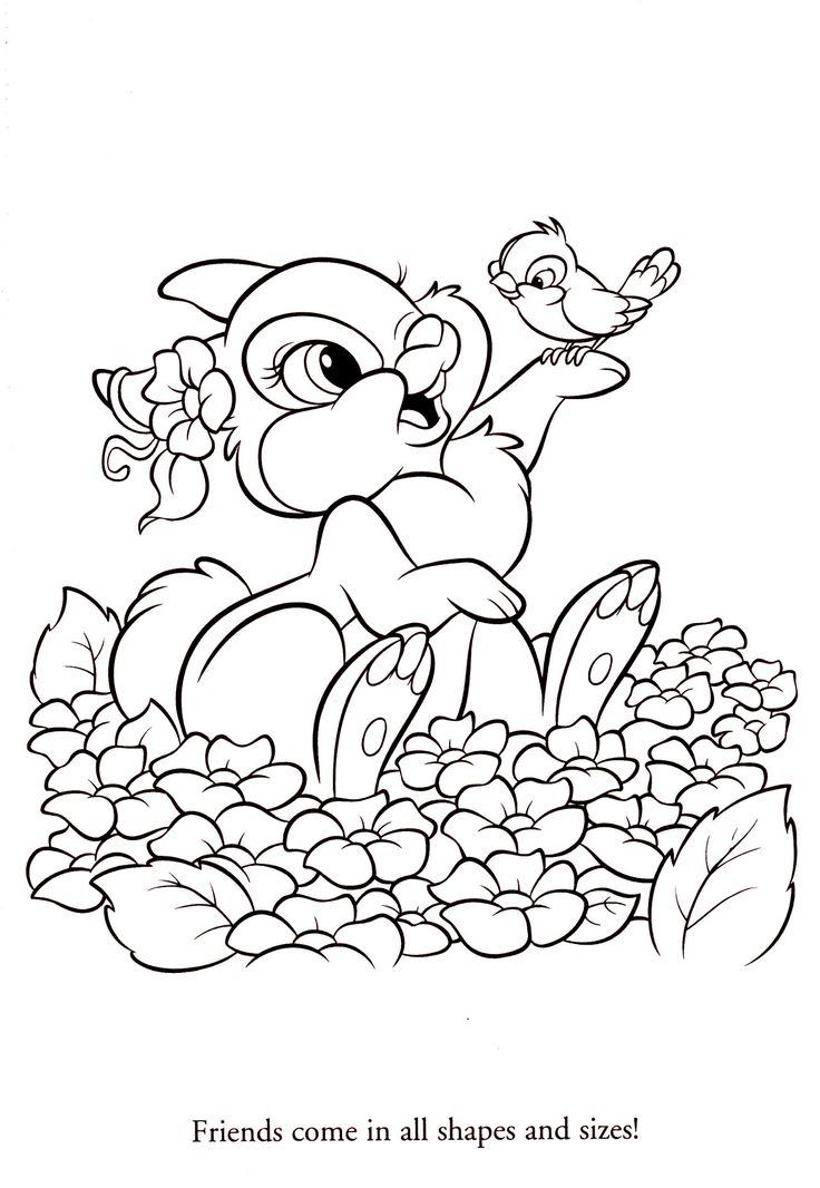 144 best Bambi coloring pages images on Pinterest  Coloring books