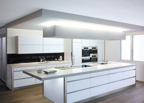 Cucina moderna / in Solid Surface / con isola GERMANY by Brunner Kuchen Bettwil Staron