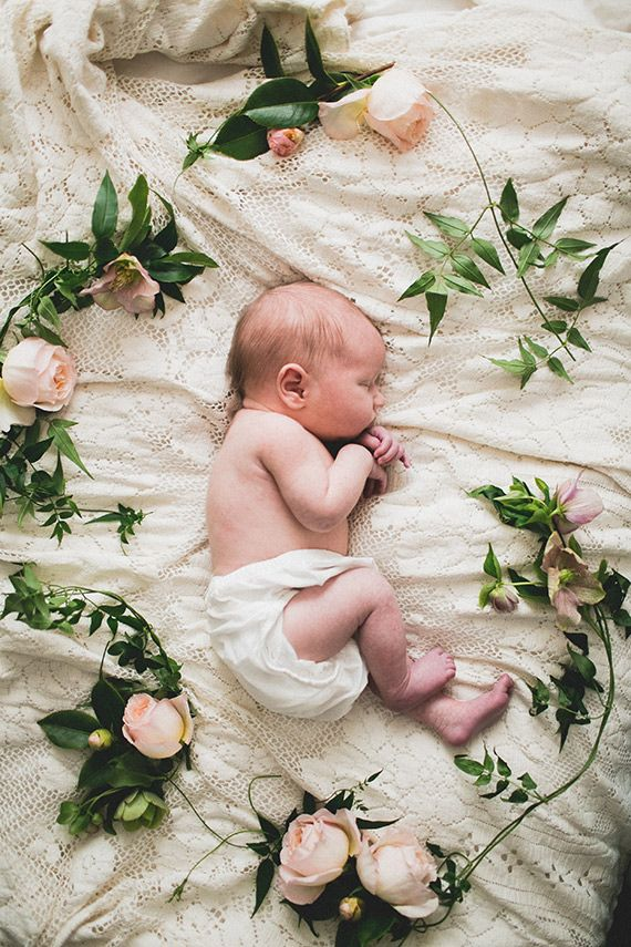 Newborn photos from Siren Floral Co.