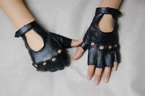 faux leather (vegan) driving gloves - halloween (Driver)