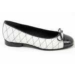 #Gabor Quilt black and white ballet pumps  New Style #2dayslook #fashion #new #nice #NewStyle   www.2dayslook.com