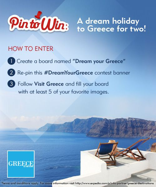 VISIT GREECE| Pin to Win#DreamYourGreece